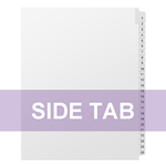 (Letter Size) Individual Side Tab Print Options