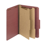 Smead 14024 Red 100% Recycled Pressboard Classification Folder, 2 Dividers, 2