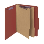Smead Top Tab Pressboard Classification Folders with SafeSHIELD Fasteners