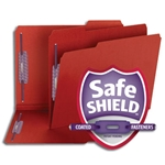 Smead Heavy Duty Top Tab Colored Pressboard Fastener Folders with SafeSHIELD Fasteners