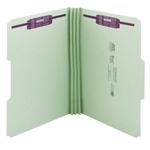 Smead Heavy Duty Top Tab Pressboard Fastener Folders with SafeSHIELD Fasteners