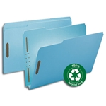 Smead Heavy Duty Top Tab 100% Recycled Pressboard Fastener Folders