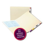 Smead End Tab Pocket Folder with Antimicrobial Product Protection