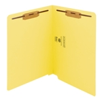 Smead 25940 Yellow End Tab Fastener File Folder, Shelf-Master Reinforced Straight-Cut Tab, 2 Fasteners, Letter