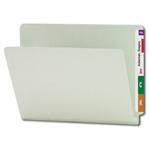 Smead 26200 Gray/Green End Tab Pressboard File Folder, Straight-Cut Tab, 1