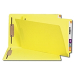 Smead 28940 Yellow End Tab Fastener File Folder, Shelf-Master Reinforced Straight-Cut Tab, 2 Fasteners, Legal