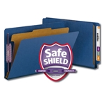 Smead End Tab Classification Folders with SafeSHIELD Fasteners, 1 Divider