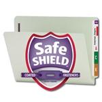 Smead Heavy Duty End Tab Pressboard Fastener Folders with SafeSHIELD Fasteners