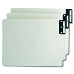 Smead End Tab Extra Wide Pressboard Filing Guides with Vertical Metal Tabs