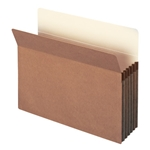 Smead 73206 Redrope 100% Recycled File Pocket, Straight-Cut Tab, 5-1/4