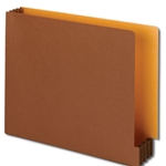 Smead End Tab Redrope File Pockets with Goldenrod Back Panel