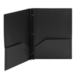 Poly Two-Pocket Folders with Fasteners