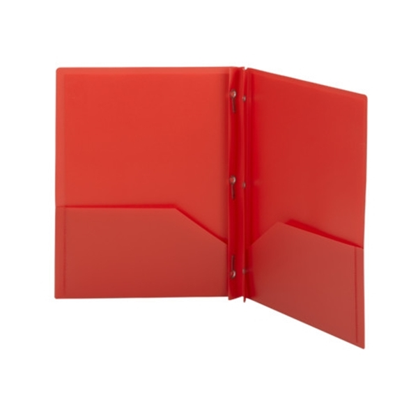 Smead 87727 Red Poly Two Pocket Folder Tang Style