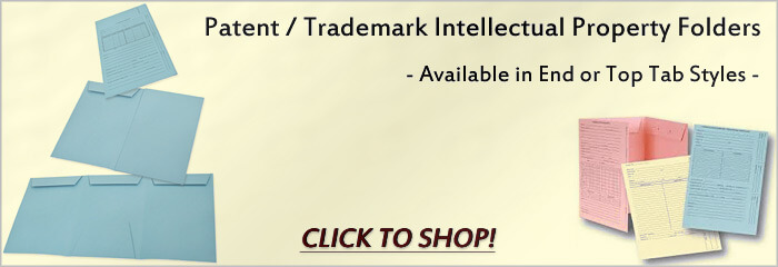 Patent / Trademark Intellectual Property Folders | End or Top Tab Styles | CLICK TO SHOP
