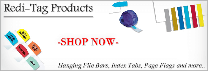 Redi-Tag Products | Hanging File Bars, Index Tabs, Page Flags and more.. | -SHOP NOW-