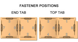 Custom Folder Fastener Positions Map