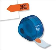 Redi-Tag Dispenser Page Flags Printed Sign Here Orange
