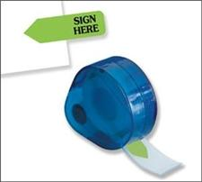 Redi-Tag Refill Rolls Sign Here Green