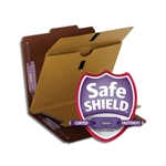 Smead 14065 Pressboard Classification File Folder with Wallet Divider and SafeSHIELD Fasteners, 2 Dividers, 2