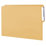 Smead 10-1/2 pt. End Tab Folders, 1/2-Cut Tab, Letter, Natural Sand