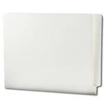 Smead 11pt. End Tab Folders, Straight-Cut Reinforced Tab, Letter, Ivory