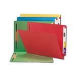 Smead End Tab, Fastener File Folder, Shelf-Master Reinforced Straight-Cut Tab, 2 Fasteners, Letter, Assorted