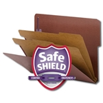 Smead End Tab Classification Folders, 1/2-Cut Top Position Tab, Two Dividers, 2