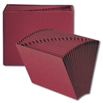 Smead Colored Expanding Files without Flap, 21 Pockets, A-Z, Letter, Maroon