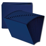 Smead Colored Expanding Files without Flap, 21 Pockets, A-Z, Letter, Navy Blue