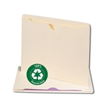 Smead 100% Recycled File Jacket, Reinforced Straight-Cut Tab, Flat-No Expansion, Letter, Manila