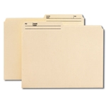 Smead 10138 Manila Reversible File Folder, 1/2-Cut Printed Tab, Letter