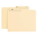 Smead 10145 Manila Reversible File Folder, 1/2-Cut Printed Tab, Letter