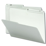 Smead 10146 Ivory Reversible File Folder, 1/2-Cut Printed Tab, Letter