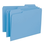Smead 10239 Blue Interior File Folder, 1/3-Cut Tab, Letter