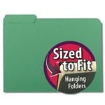 Smead 10247 Green Interior File Folder, 1/3-Cut Tab, Letter