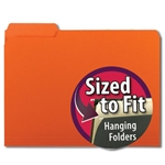 Smead 10259 Orange Interior File Folder, 1/3-Cut Tab, Letter