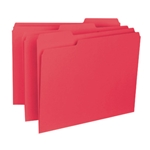 Smead 10267 Red Interior File Folder, 1/3-Cut Tab, Letter