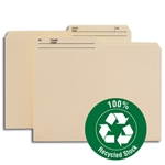 Smead 10329 Manila 100% Recycled File Folder, 1/2-Cut Tab, Letter