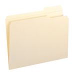 Smead 10337 Manila File Folder, Reinforced 1/3-Cut Tab Right Position, Letter