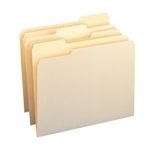 Smead 10338 Manila File Folder with Antimicrobial Product Protection, 1/3-Cut Tab, Letter