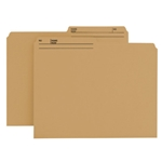 Smead 10340 Natural Sand Reversible File Folder, 1/2-Cut Printed Tab, Letter