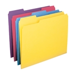 Smead 10349 Assorted File Folder with Antimicrobial Product Protection, 1/3-Cut Tab, Letter
