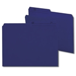 Smead 10362 Navy Blue Reversible File Folder, 1/2-Cut Printed Tab, Letter
