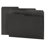 Smead 10364 Black Reversible File Folder, 1/2-Cut Printed Tab, Letter