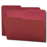 Smead 10369 Maroon Reversible File Folder, 1/2-Cut Printed Tab, Letter