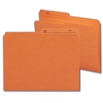 Smead 10370 Orange Reversible File Folder, 1/2-Cut Printed Tab, Letter