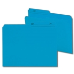 Smead 10373 Sky Blue Reversible File Folder, 1/2-Cut Printed Tab, Letter