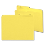 Smead 10374 Yellow Reversible File Folder, 1/2-Cut Printed Tab, Letter