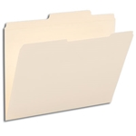 Smead 10376 Manila File Folder, Reinforced 2/5-Cut Right of Center Tab, Guide Height, Letter