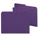 Smead 10378 Purple Reversible File Folder, 1/2-Cut Printed Tab, Letter